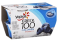 Yoplait Greek 100 Blueberry Yogurt, 4 CT