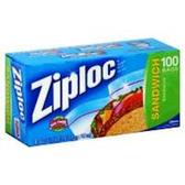 Ziploc Bags Sandwich - 100 Count