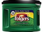 Folgers Classic Coffee - Decaf, 32 oz