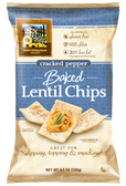Baked Lentil Chips Cracked Pepper - Gluten Free - 4.5 oz