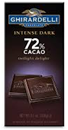 Ghirardelli Twillight Delight Intense Dark Bar 72% Cacao -3.5oz
