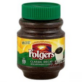 Folgers Instant Coffee - Classical Roast Decaf - 8 oz