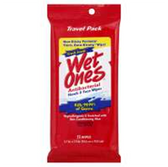 Wet Ones Fresh Scent Antibacterial Wipes Travel Pack - 15 Count