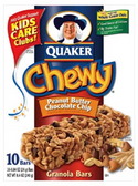 Quaker Chewy Peanut Butter Chocolate Chip Granola Bar-10 pk