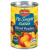 Delmonte Sliced Peaches No Sugar Added - 15.25 oz