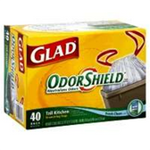 Glad Drawstring Tall Kitchen Vanilla Odor Shield Glad 13 Gallon