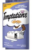 Whiskas temptations Cat Treats Creamy Dairy Flavor -3oz