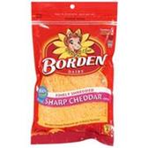Borden Finely Shredded Sharp Cheddar Cheese - 8 oz