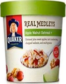 Quaker Real Medley's - Apple Walnut Oatmeal -2.64oz