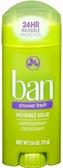 Ban Invisble Solid Shower Fresh Deodorant - ea