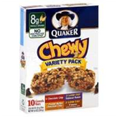 Quaker Chewy Variety Pack Granola Bar -10 pk