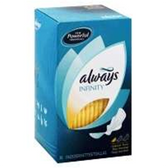 Always Infinity Pads Overnight With Wings - 28 Count