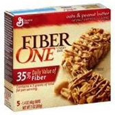 Fiber One Oats And Peanut Butter Chewy Granola Bar-5 pk