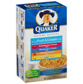 Quaker Instant Maple & Brown Sugar Packets Oatmeal-10 pk