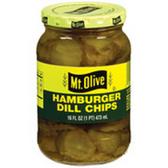 Mt Olive Hamburger Dill Chips -16 oz