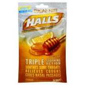 Halls Sugar Free Honey-Lemon Cough Drops - 25 Count