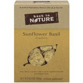 Back to Nature Sunflower Basil Crackers -8.5 oz