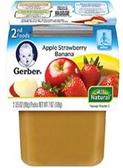 Gerber All-Natural - Apple Strawberry Banana -2ct