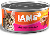 Iams Cat Pate With  Beef -5.5oz