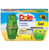 Dole Fruit Bowls in Lime Gel Pineapple - 4 pk
