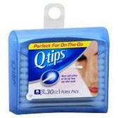 Q-Tips Travel Size Cotton Swabs - 30 Count