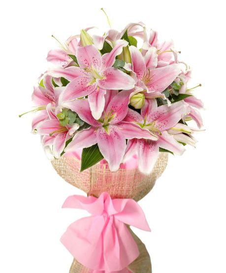Pretty In Pink Stargazer Bouquet Flower Delivery Philippines