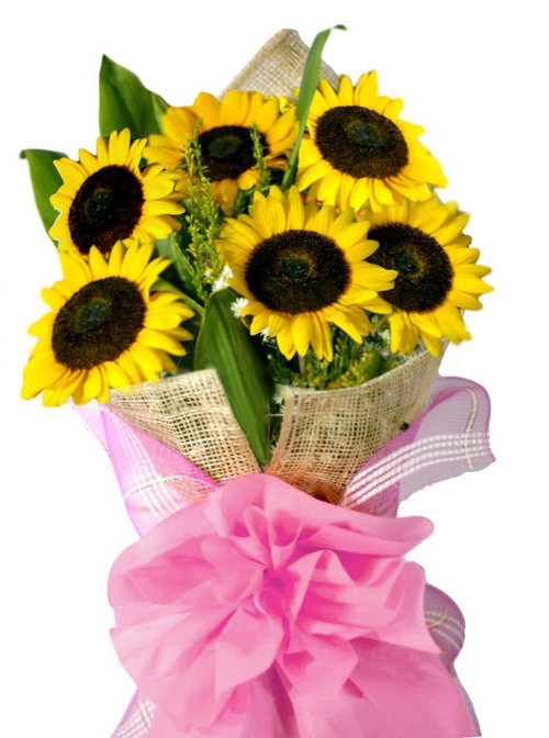 6 Sunflowers Bouquet - Flower Delivery Philippines