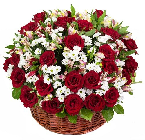 Customizable Basket Of Roses Flower Delivery Philippines