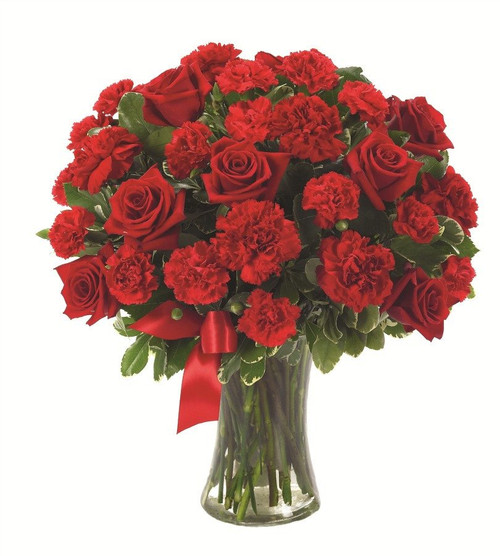 20 red carnations 12 red roses bouquet flower delivery philippines