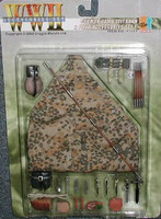 DRA71117 - German Camo Zeltbahn & Field Accessories Set 1