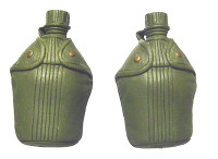 John Wayne: Green Beret w/ Tiger Stripe Accessories - 2 Canteens