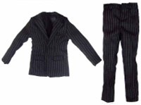 Indigo - Black Pin-Striped Suit