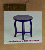 WoodenFace - Small Round Top Table (Bar Stool)(Dark Brown)