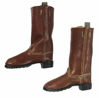 Imperial German Infantryman: Battle of Liege WWI - Brown Leather Boots