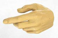 X-Series Nude: Caucasian Pale XP1 - Left Trigger Hand