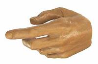X-Series Nude: Caucasian Tan XT1 - Left Trigger Hand
