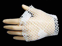 Fire Red Rose - Left Fishnet Gloved Hand