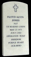 Frank: USMC Force Recon - Tombstone (Marble & Numbered)