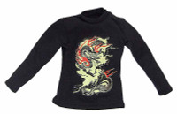 Gangster Kingdom: Diamond 2 - Black Long Sleeve Shirt w/ Design on Front