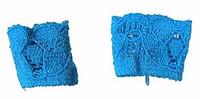 Flirty Girl: Lingerie - Blue Wrist Bands