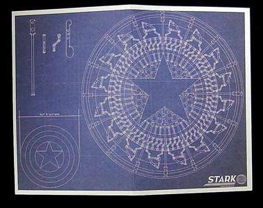 Iron Man 2: Tony Stark Arc Reactor Creation   Shield Blueprints