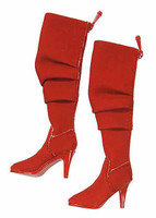 Women's V Neck Dresses - Red Boots (Ball Socket)