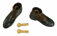 Doctor Who: 1st Doctor (William Hartnell) - Shoes w/ Foot Peg Joints