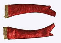 Cheerleader Clothing (Red) - Gloves