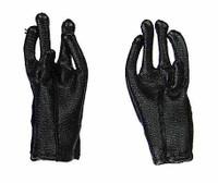 Cowboy (Django) - Black Leather Gloves