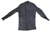 Cowboy (Django) - Blue Long Sleve Collerless Shirt
