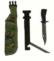 Royal Marines Commando - Knife w/ Sheath w/ Fold Out Saw & Pouch