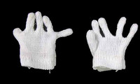 German Head of State (TT003 - Middle Aged) - White Knit Gloves