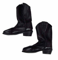 Lethal Weapon (Version A) - Black Soft Leather Boots (For Feet)