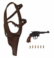 """2nd Armored Division """"Hell On Wheels"""" Sgt. Donald (Regular Edition) - Revolver w/ Holster & Brass Bullets"""